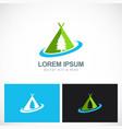 camping pine tree logo vector image