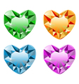 Diamond heart set vector image