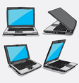 hand drawn four laptops vector image