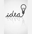 idea typography vector image