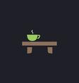 Tea time computer symbol vector image