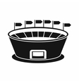 Stadium icon in simple style vector image vector image