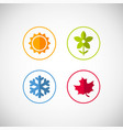 four season icons vector image