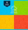 line real estate patterns vector image