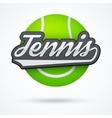 Premium Tennis label vector image
