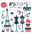 Beautiful collection of paris related graphic vector image vector image