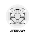 Lifebuoy Line Icon vector image vector image