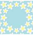 Plumeria Tropical flower icon set Frangipani vector image
