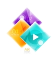 Colorful geometric squares with option vector image