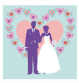 silhouette of wedding couple vector image