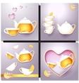 A cup of tea and a pot vector image