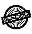 express delivery rubber stamp vector image