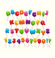 funny balloon alphabet vector image