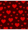 Red Hearts Seamless Background Pattern vector image