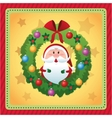 Santa cartoon of Christmas season design vector image