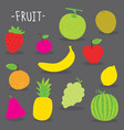 sticker fruit cute cartoon vector image