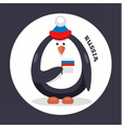 penguin cheerleader patriot of the country vector image