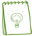 A green notebook with a bulb vector image vector image