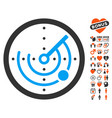radar icon with lovely bonus vector image