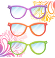 Set of trendy hipster transparent glasses vector image