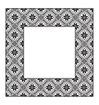 Set square frame ornamental ethnic vector image