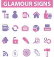 glamour pink signs vector image vector image
