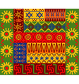 abstract ethnic patterns vector image vector image