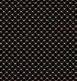 Lace seamless pattern with circles on black vector image