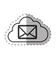 cloud email message envelope technology thin line vector image