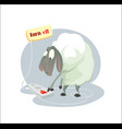 digital funny cartoon sheep vector image