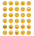 emoticon set with different funny emotions vector image
