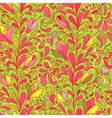 Fantasy flowers seamless pattern Floral ornament vector image