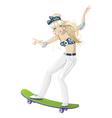 girl skateboard vector image