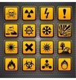 Hazardous materials symbols vector image