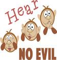 Hear No Evil vector image