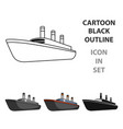 huge cargo black linership for transportation of vector image