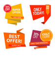 sale banner design collection of colored banners vector image