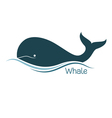 Whale icon vector image