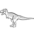 cartoon tarbosaurus dinosaur for coloring book vector image