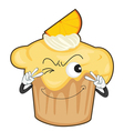 a cup cake vector image vector image