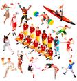 Sport Isometric Olympic Set Sportsmen AurielAki vector image
