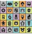 Robot and monsters cell seamless pattern vector image vector image