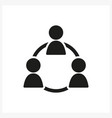 business people icon in simple black design vector image