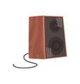 wooden audio speaker musical equipment cartoon vector image