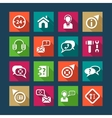 flat help and support icons vector image