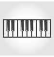 black piano key icon vector image
