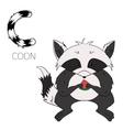 Alphabet letter C coon children vector image