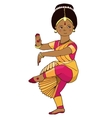 Beautiful girl dancing Indian classical dance vector image