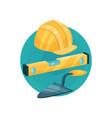 builder icon construction tools cartoon vector image