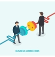 Business connection concept Isometric 3d vector image